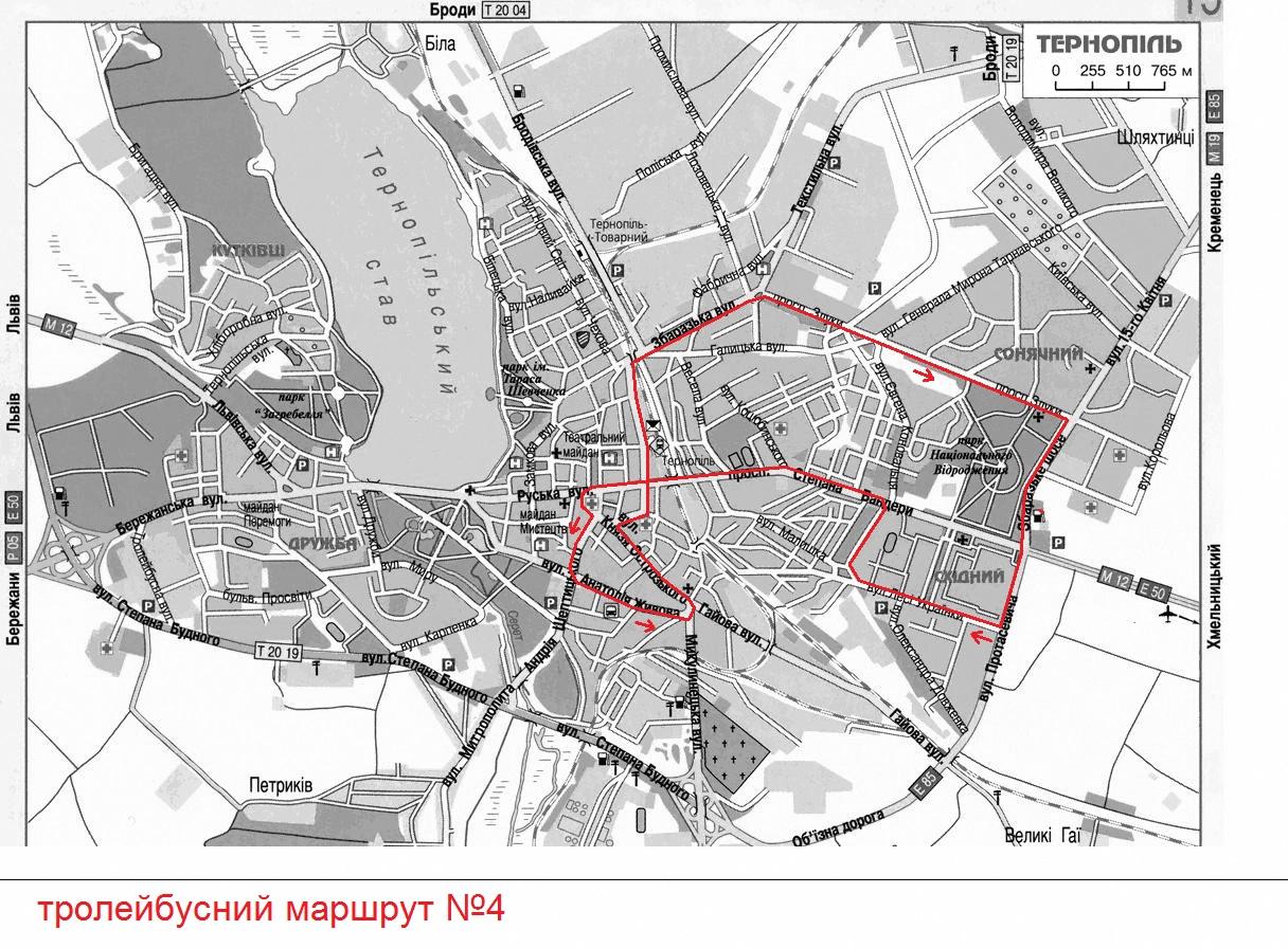 Схема маршруту №4