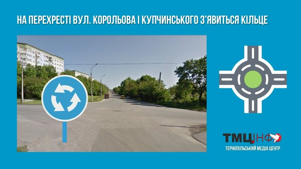 На перехресті вулиць Корольова і Купчинського з'явиться кільце