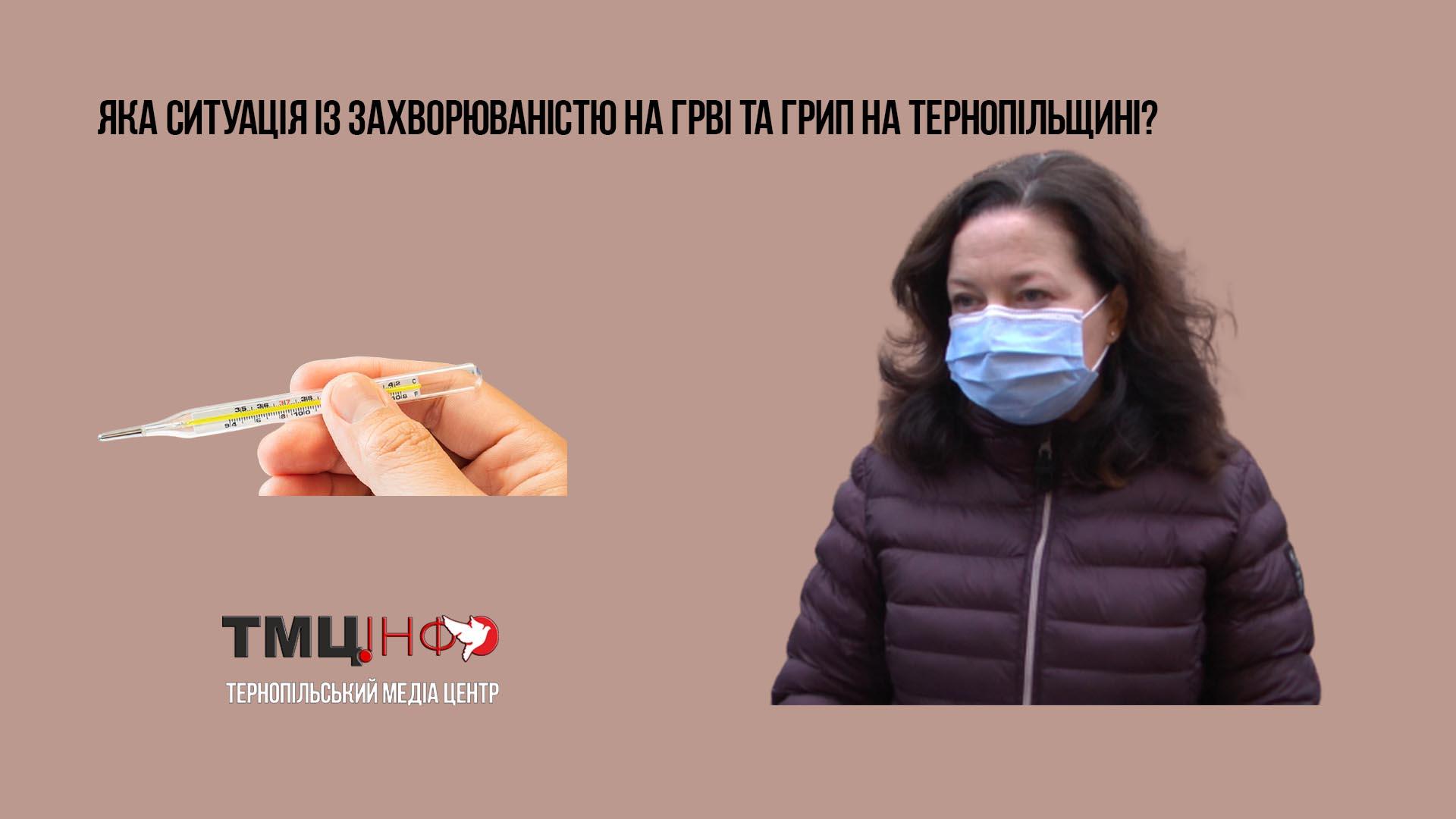 Яка ситуація із захворюваністю на ГРВІ та грип на Тернопільщині?
