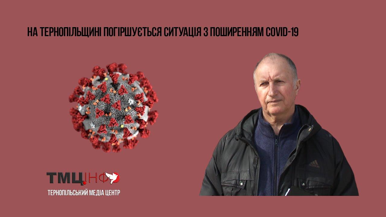На Тернопільщині погіршується ситуація з поширенням COVID-19
