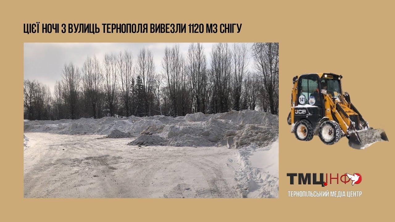 Цієї ночі з вулиць Тернополя вивезли 1120 м3 снігу