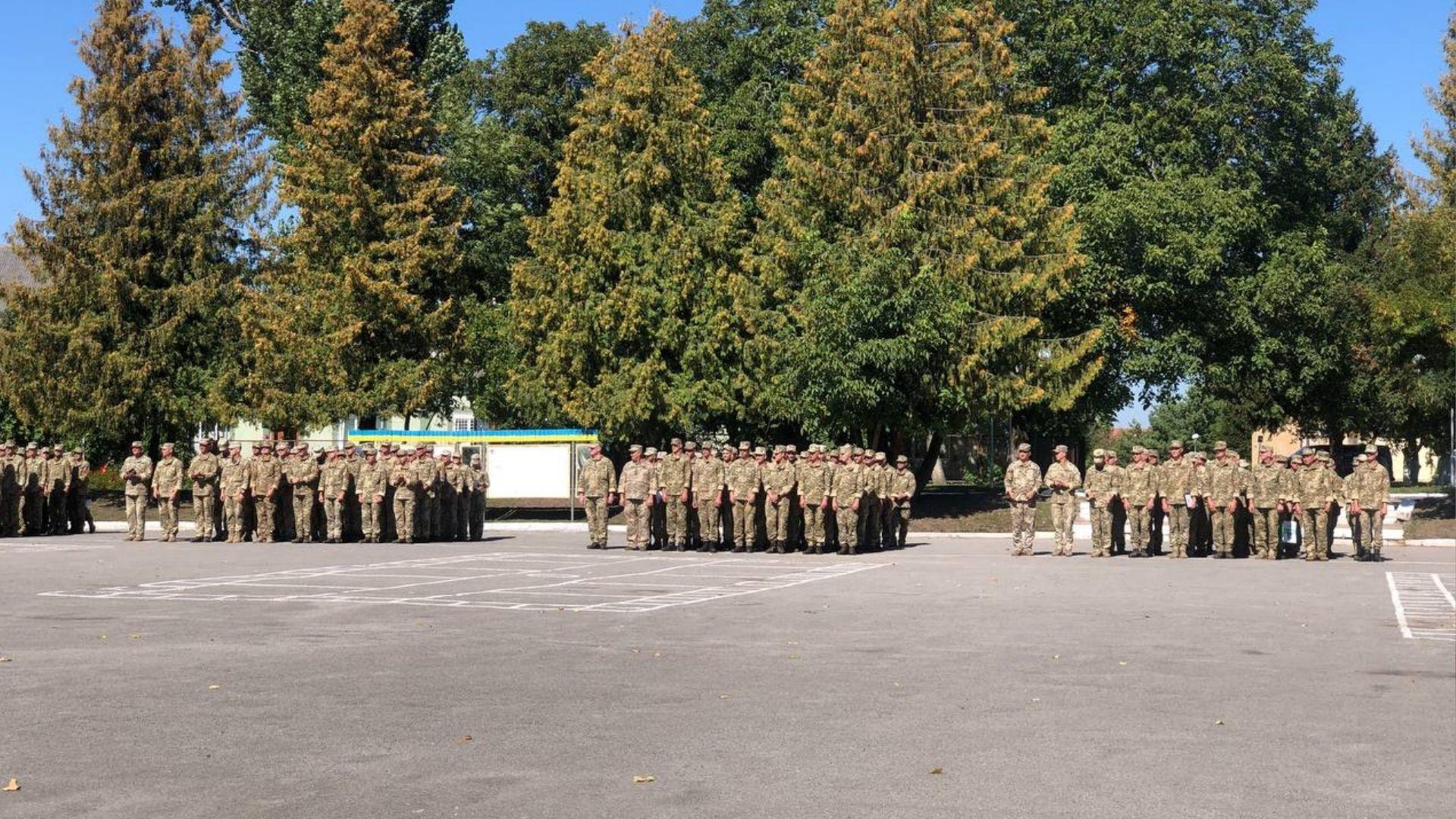 44-та артилерійська бригада на плацу